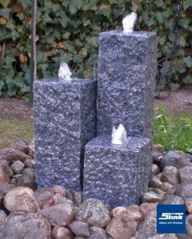 Gartenbrunnen Sylt 3 3-Granitsäulen