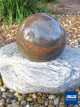 Gartenbrunnen Schwimmende Granitkugel