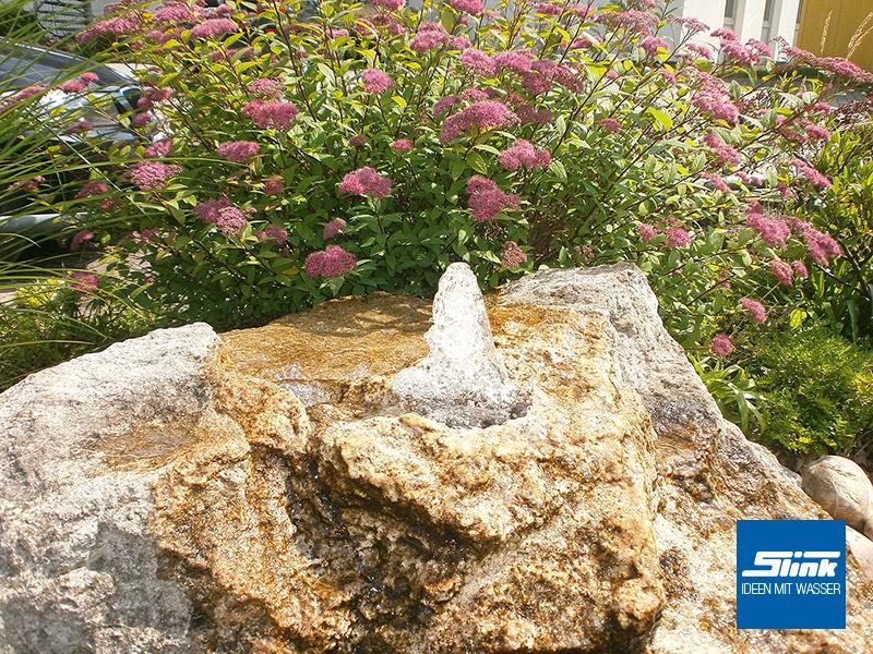 Gartenbrunnen Steinbrunnen Stein-Springbrunnen Wasserspiel Steinoptik Leichtbau