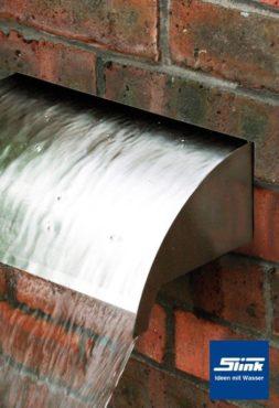 Edelstahl-Wasserfall-Bauteil Whitewater