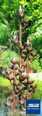 Zierbrunnen Kupferkaskade Schleierwindengruppe