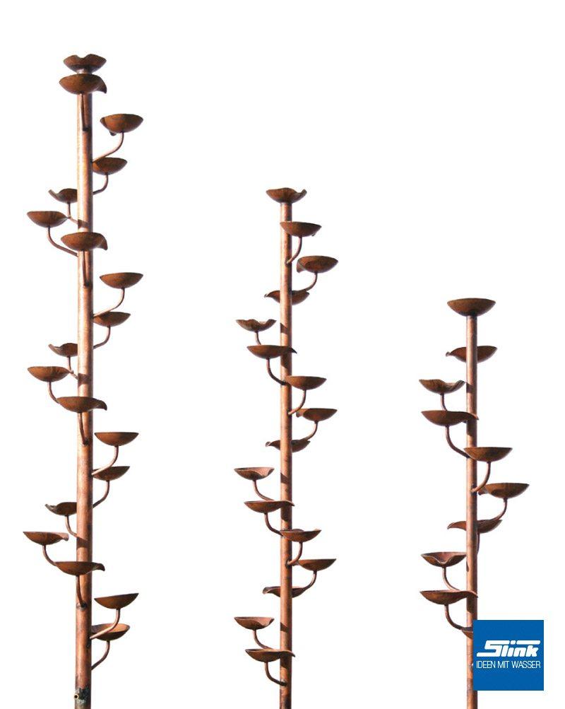 Kupfer-Gartenspringbrunnen Kaskade