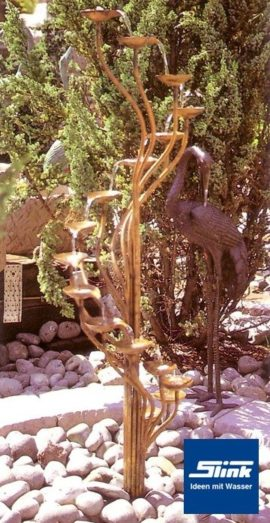 Gartenbrunnen Kupfer-Kaskade Orchidee II
