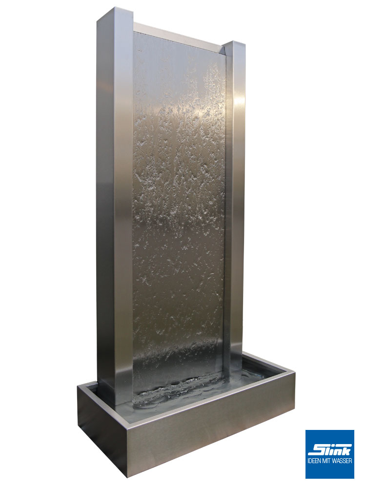 Wasserwand, Edelstahlbrunnen, Gartenbrunnen, Terrassenbrunnen, Zimmerbrunnen, Wandbrunnen,, Springbrunnen Design