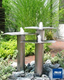 Gartenbrunnen Edelstahl-Wasserobjekt Qi-Fountain