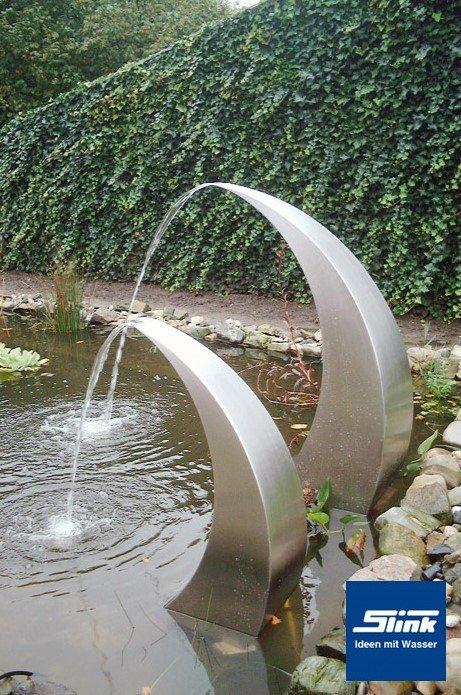 Wasserfall Edelstahl-Wasserobjekt Semi-Circle