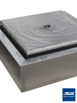 Brunnen Edelstahl Kubus-Tafel E