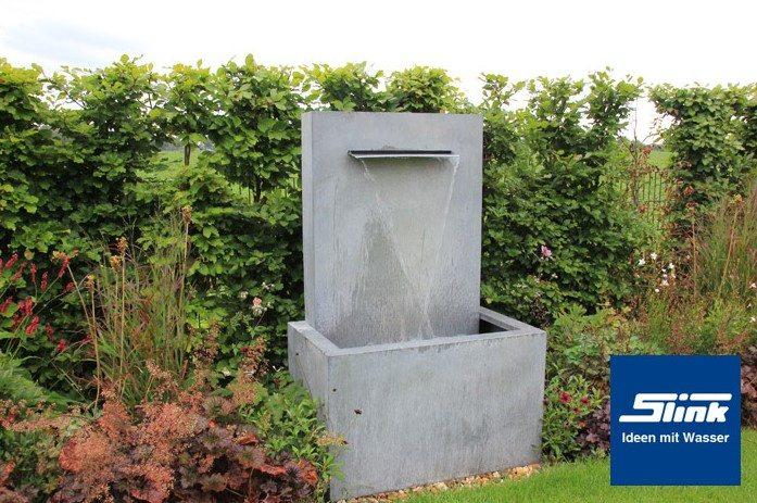 Gartenbrunnen zinkart wall slink ideen mit wasser for Brunnen wasserfall garten