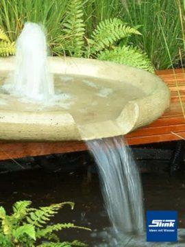Springbrunnen Wasserschale Geysir