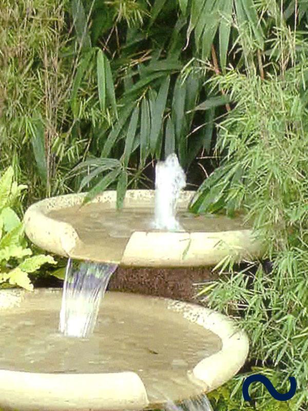 Bachlauf modern Schale Wasserschale Slink Ideen mit Wasser Gartenteich