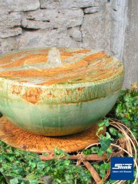 Springbrunnen Keramik Halbkugel