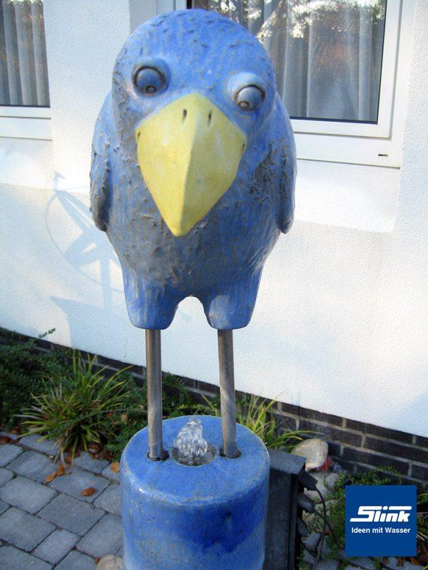 Gartenbrunnen keramik wassers ule mit stehendem vogel slink ideen mit wasser - Gartenbrunnen keramik ...