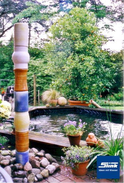Keramik-Wasserobjekt Einzelsäule