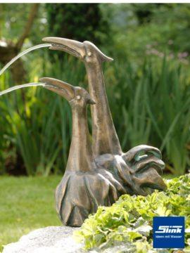 Bronzefigur Reiherpaar Duplus
