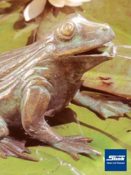 Bronzefigur Frosch