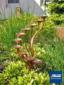 Springbrunnen Kupfer-Kaskade Orchidee I