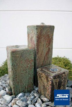 Gartenbrunnen Springbrunnen Föhr 3 antik 3-Terrakottasäulen