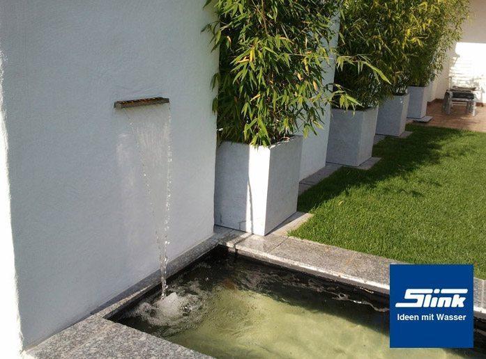 Edelstahl wasserfall bauteil victoria 30 cm slink - Garten wasserfall ...