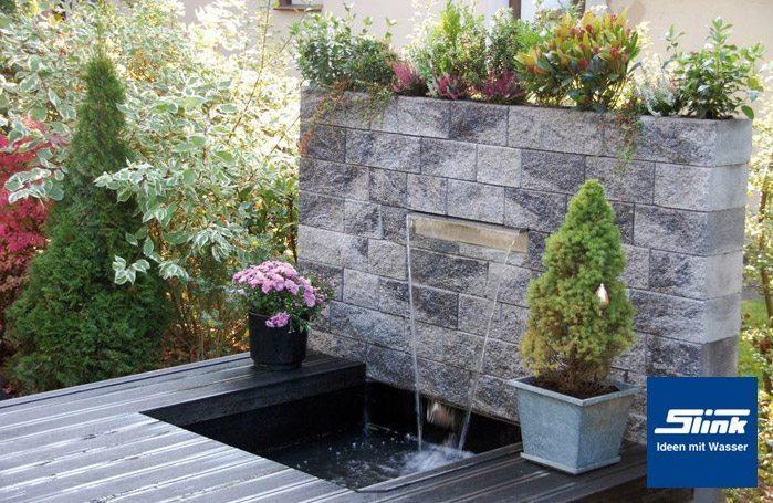 Garten Steinmauer Wasserfall | rheumri.com