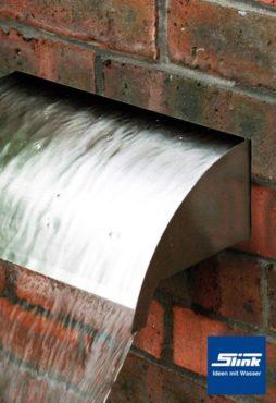 Edelstahl Wasserfall-Bauelement Whitewater 120