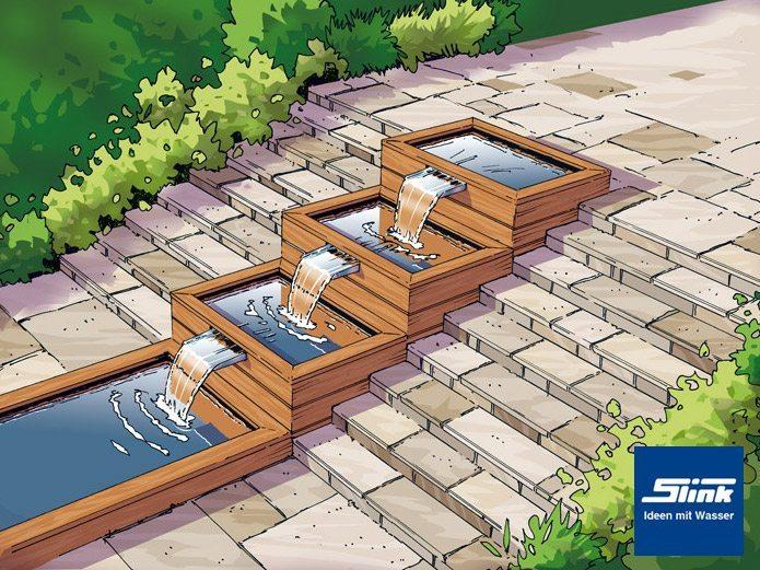 Wasserlauf Im Garten Selbst Bauen ~ Kreative Ideen für Design und ...