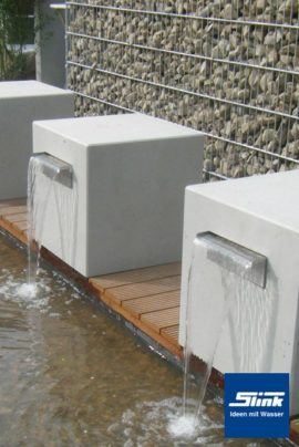 Garten-Wasserfall Beton-Kubus Gropius 60