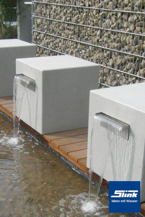 Garten Wasserfall Beton Kubus Gropius Slink Ideen Mit Wasser