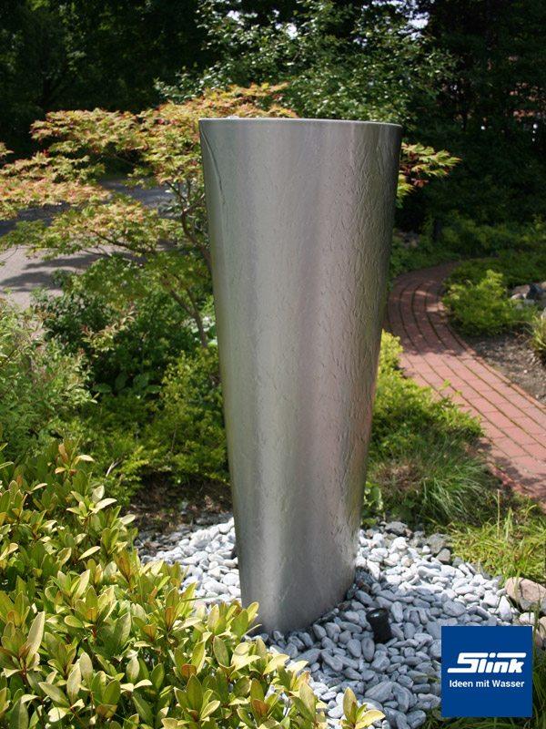 Springbrunnen Edelstahlbrunnen Edel-Ellipse - Slink | Ideen mit Wasser