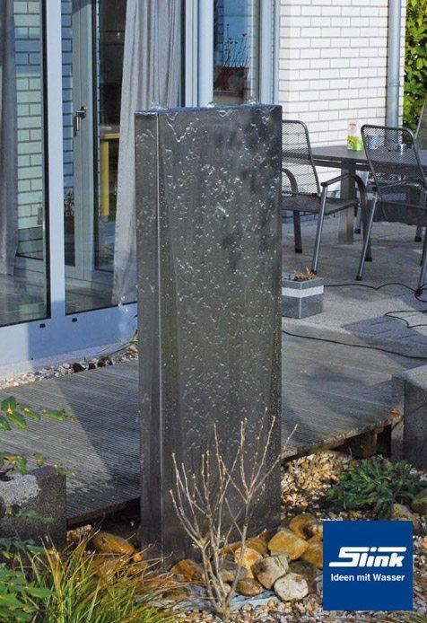 Brunnen Edelstahl.Edelstahlbrunnen Springbrunnen Edel Stele 200 Cm