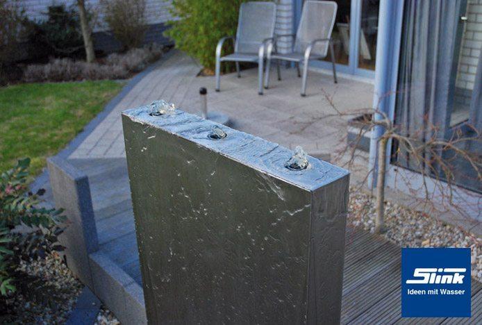 edelstahlbrunnen springbrunnen edel stele 90 cm slink ideen mit wasser. Black Bedroom Furniture Sets. Home Design Ideas