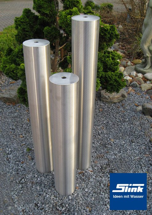 gartendeko edelstahl saule, edelstahlspringbrunnen trio-säulen hobby 3-säulen-brunnen - slink, Design ideen