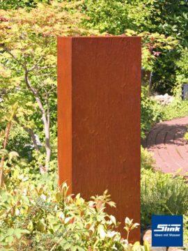 Gartenbrunnen Springbrunnen Cortenstahl-Stele