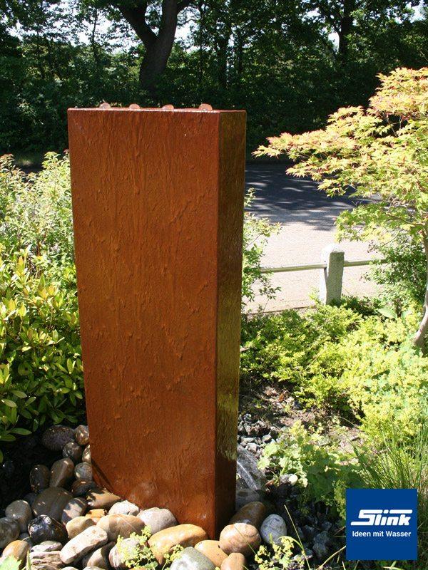 gartenbrunnen springbrunnen cortenstahl-stele - slink | ideen mit, Garten und bauen