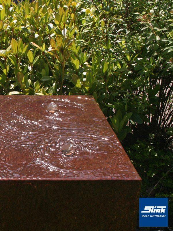 gartenbrunnen springbrunnen cortenstahl-quader quattro 50 - slink, Hause und Garten