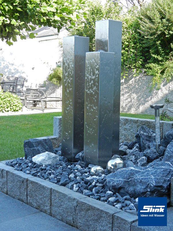 Edelstahl-Springbrunnen