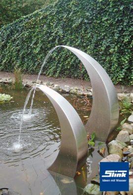 Gartenbrunnen Edelstahl-Wasserfall Semi-Circle 120