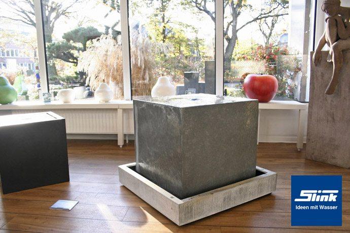 Zimmerbrunnen Zinkart-Quader Indoor - Slink | Ideen mit Wasser