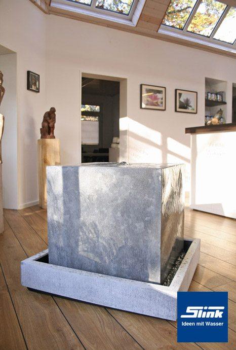 Zimmerbrunnen zinkart quader indoor slink ideen mit wasser - Moderne zimmerbrunnen ...
