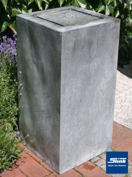 Springbrunnen Zinkart Kubus-Tisch hoch