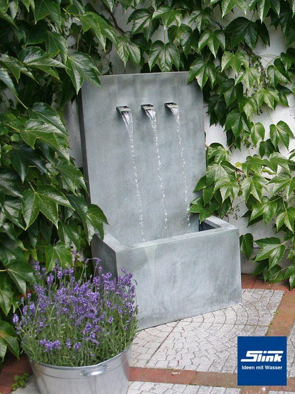 wandbrunnen wasserfall wand zinkart wall 3 slink ideen. Black Bedroom Furniture Sets. Home Design Ideas