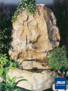 Wandfelsenanlage Mountain mit Wasserbecken