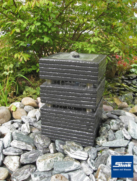 gartenbrunnen springbrunnen kreativ quader 30 slink ideen mit wasser. Black Bedroom Furniture Sets. Home Design Ideas