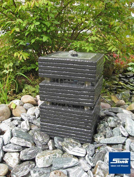 gartenbrunnen springbrunnen kreativ-quader 30 - slink | ideen mit, Gartenarbeit ideen