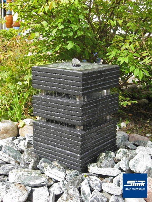 Gartenbrunnen Springbrunnen KreativQuader 30  Slink  Ideen mit
