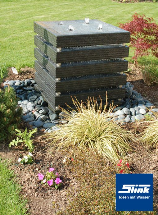 gartenbrunnen springbrunnen kreativ-quader 70 - slink | ideen mit, Gartenarbeit ideen