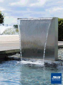 Wasserfall-Stele Edelstahl 30/60 Solo/Set
