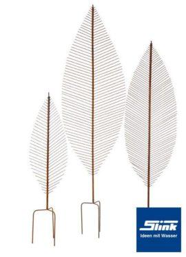 Edelrost-Rankstab Blatt 100 cm