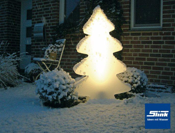 beleuchtung leucht tannenbaum maxi wei 115 cm slink ideen mit wasser. Black Bedroom Furniture Sets. Home Design Ideas