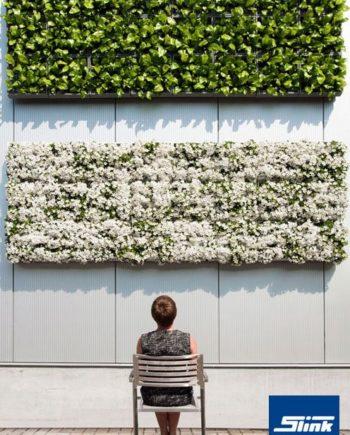Vertikale Gärten drinnen und draußen