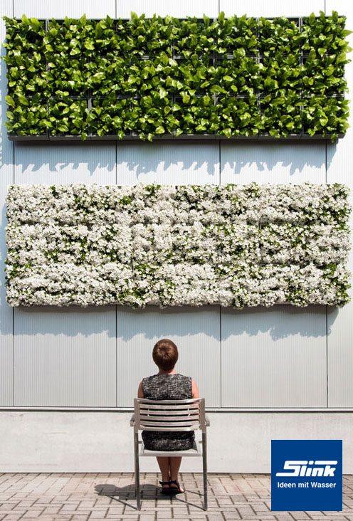 Wandbegrünung karoo wandbegrünung indoor und outdoor weiß slink ideen mit wasser